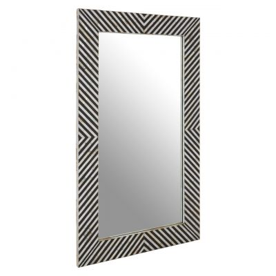 Black And White Stripes Mirror
