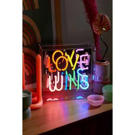 Love Wins Neon Sign Retro Lighting  Seletti £109.00 Store UK, US, EU, AE,BE,CA,DK,FR,DE,IE,IT,MT,NL,NO,ES,SE