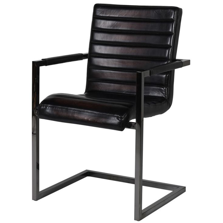 Black Ribbed Leather Chair Industrial Furniture Smithers of Stamford £ 369.00 Store UK, US, EU, AE,BE,CA,DK,FR,DE,IE,IT,MT,NL...