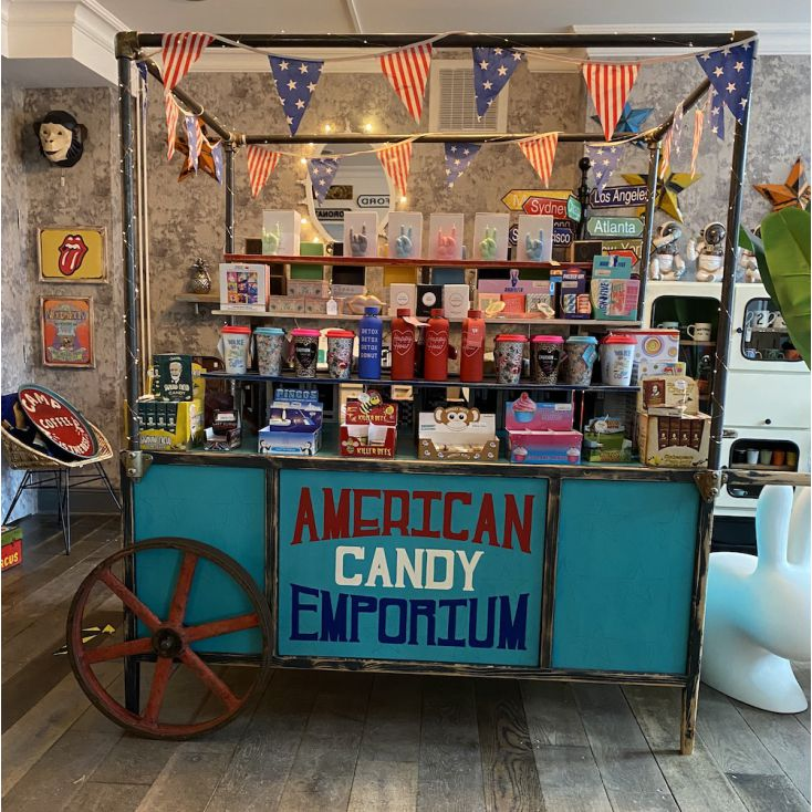 American Candy Sweet Cart Storage Furniture Smithers of Stamford £ 2,500.00 Store UK, US, EU, AE,BE,CA,DK,FR,DE,IE,IT,MT,NL,N...