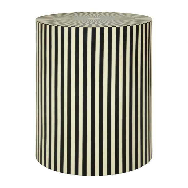 Cylinder Black And White Stripes Side Table/Stool Designer Furniture  £ 420.00 Store UK, US, EU, AE,BE,CA,DK,FR,DE,IE,IT,MT,N...