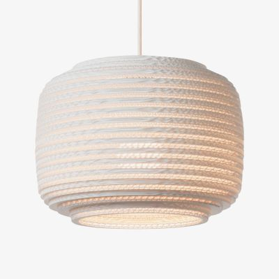 White Graypants Scraplight Ceiling Lampshade