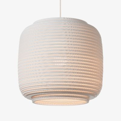XL White Graypants Scraplight Ceiling Lampshade