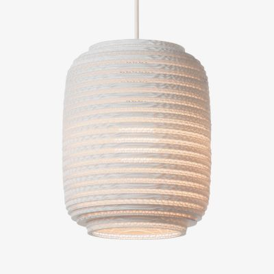 Small White Graypants Scraplight Ceiling Lampshade