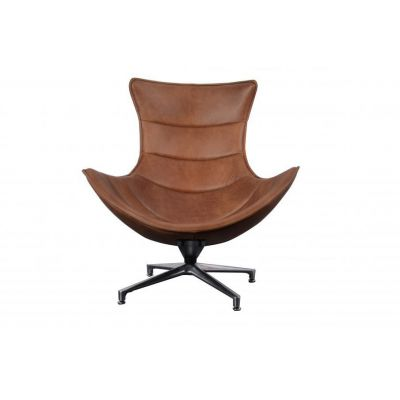 Costello Tan Leather Accent Chair