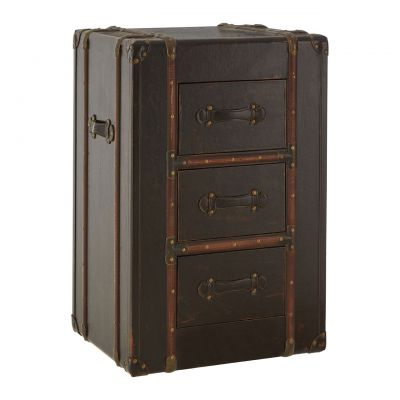 Steamer Trunk Bedside Table