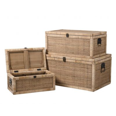 Wicker Storage Chest Trunks