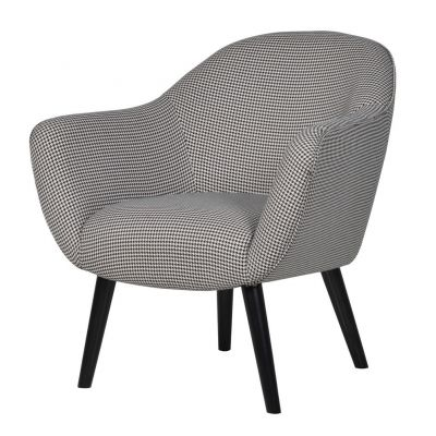 Monochrome Houndstooth Armchair