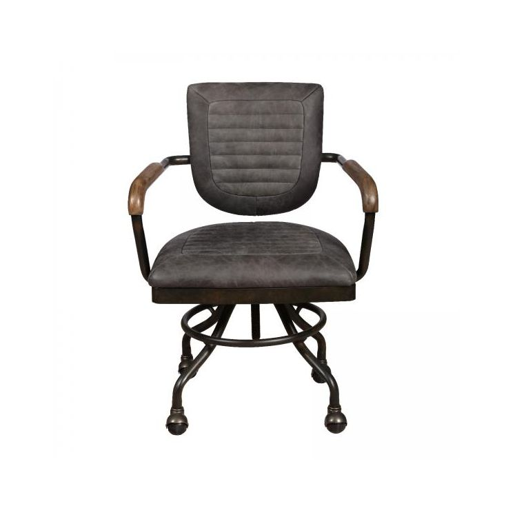 Hudson Grey Leather Office Chair Aviation Furniture Smithers of Stamford £ 563.00 Store UK, US, EU, AE,BE,CA,DK,FR,DE,IE,IT,M...