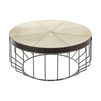 Birdcage Leather Coffee Table