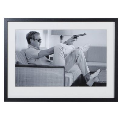 Steve McQueen 'Taking Aim' Framed Picture