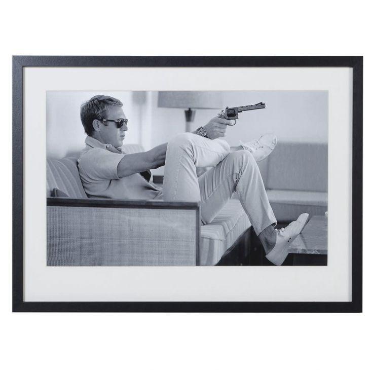 Steve McQueen 'Taking Aim' Framed Picture Vintage Wall Art £ 147.00 Store UK, US, EU, AE,BE,CA,DK,FR,DE,IE,IT,MT,NL,NO,ES,SE