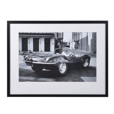 Steve McQueen In Jaguar Car Framed Picture