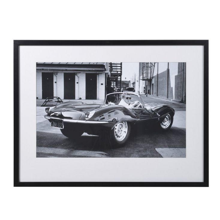 Steve McQueen In Jaguar Car Framed Picture Vintage Wall Art £ 127.00 Store UK, US, EU, AE,BE,CA,DK,FR,DE,IE,IT,MT,NL,NO,ES,SE