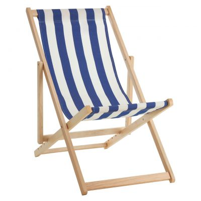Stripe Deck Chair/Blue/Red/White