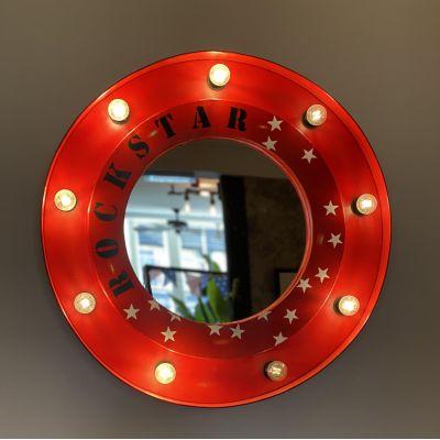 Porthole Rockstar Bulb Mirror