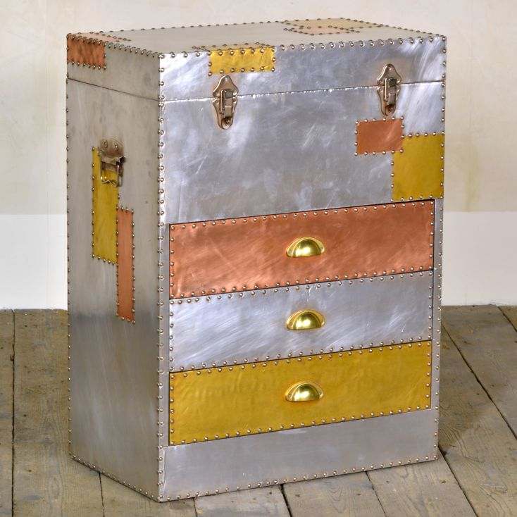 Dakota Industrial Chest of Drawers Aviation Furniture Smithers of Stamford £ 360.00 Store UK, US, EU, AE,BE,CA,DK,FR,DE,IE,IT...