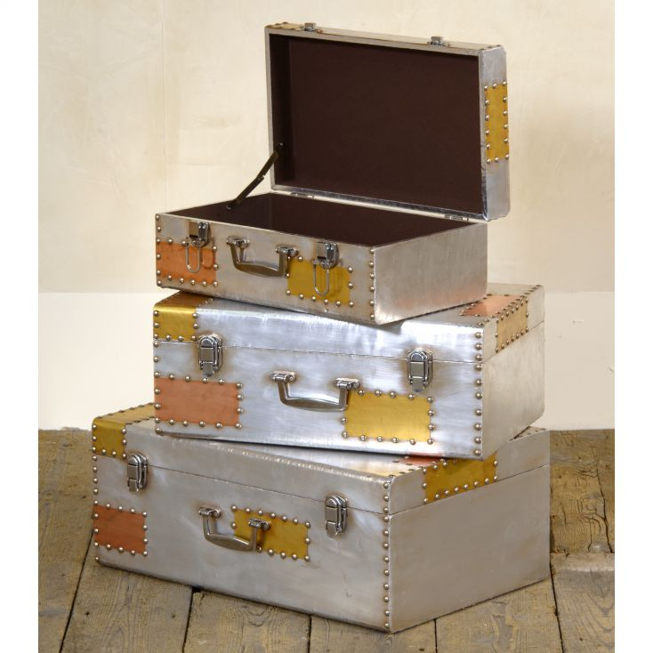 Dakota Trunk Set Aviation Furniture Smithers of Stamford £ 315.00 Store UK, US, EU, AE,BE,CA,DK,FR,DE,IE,IT,MT,NL,NO,ES,SE