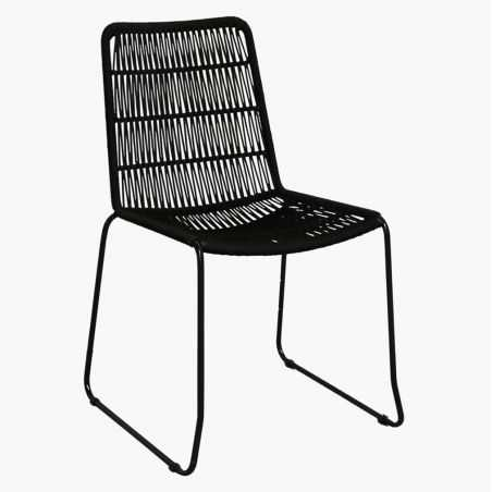 Black Rope Dining Chair Kitchen & Dining Room  £ 198.00 Store UK, US, EU, AE,BE,CA,DK,FR,DE,IE,IT,MT,NL,NO,ES,SE