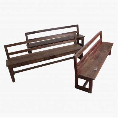 Wooden Antique School Bench Seat