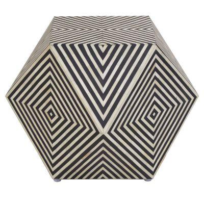 Monochrome Diamond Side Table