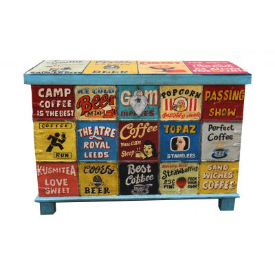Vintage Style Hand Painted Trunk Chest