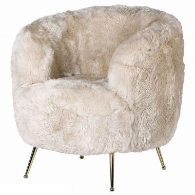 Fur Ball Sheepskin Chair