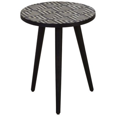 Monochrome Boho Side Table