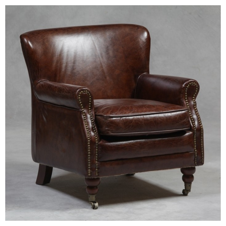 Lucania Vintage Style Leather Armchair