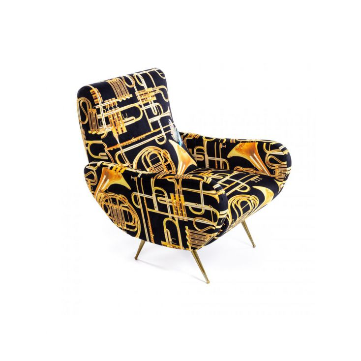 Seletti Trumpet Armchair Sofas and Armchairs Seletti £ 1,045.00 Store UK, US, EU, AE,BE,CA,DK,FR,DE,IE,IT,MT,NL,NO,ES,SE