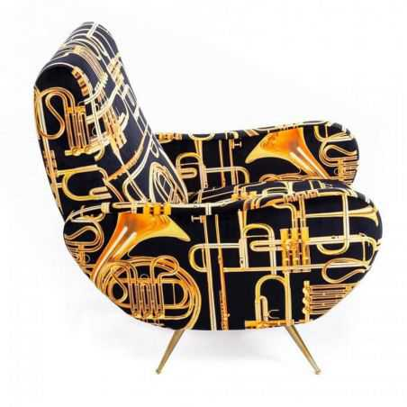 Seletti Trumpet Armchair Sofas and Armchairs Seletti £1,100.00 Store UK, US, EU, AE,BE,CA,DK,FR,DE,IE,IT,MT,NL,NO,ES,SE