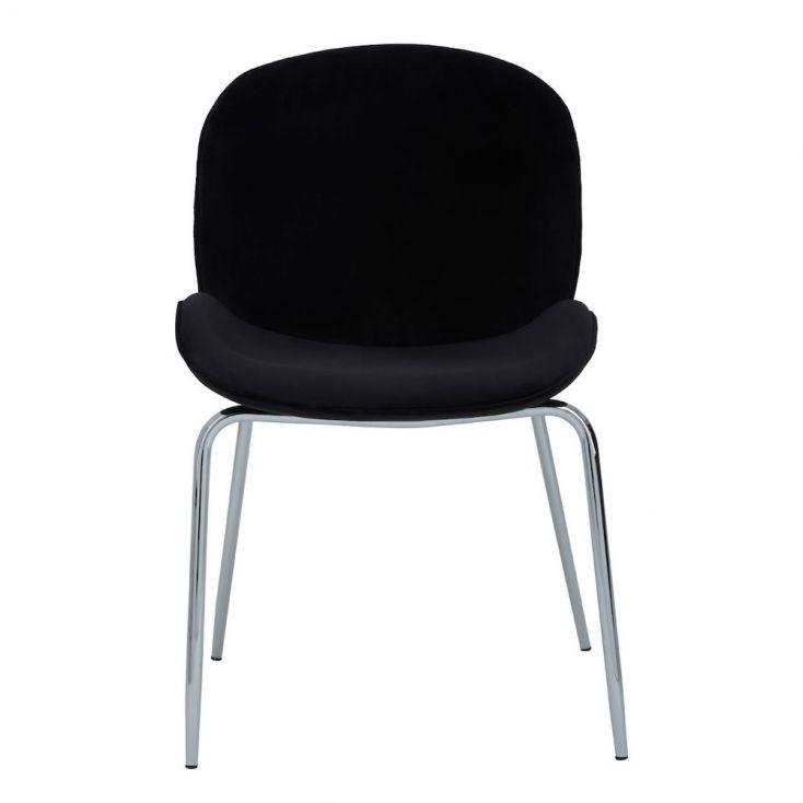 Tolethorpe Black Velvet Chrome Dining Chair Designer Furniture £ 135.00 Store UK, US, EU, AE,BE,CA,DK,FR,DE,IE,IT,MT,NL,NO,E...