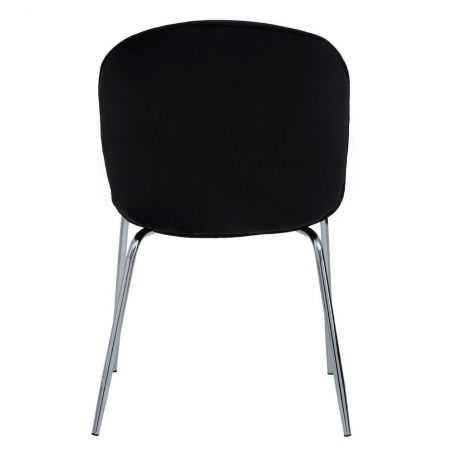 Tolethorpe Black Velvet Chrome Dining Chair Designer Furniture  £150.00 Store UK, US, EU, AE,BE,CA,DK,FR,DE,IE,IT,MT,NL,NO,ES,SE