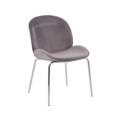 Tolethorpe Mink Velvet Chrome Dining Chair