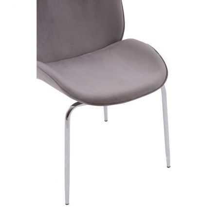 Tolethorpe Mink Velvet Chrome Dining Chair Designer Furniture  £150.00 Store UK, US, EU, AE,BE,CA,DK,FR,DE,IE,IT,MT,NL,NO,ES,SE
