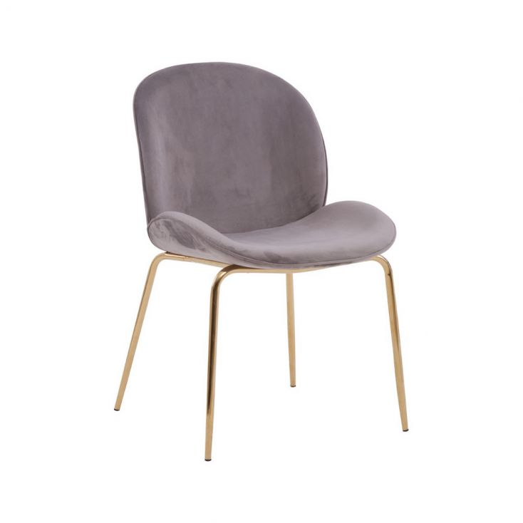 Tolethorpe Mink Velvet Gold Dining Chair Designer Furniture £ 170.00 Store UK, US, EU, AE,BE,CA,DK,FR,DE,IE,IT,MT,NL,NO,ES,SE