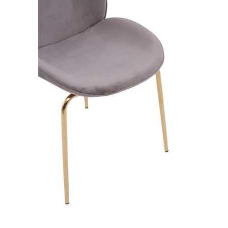 Tolethorpe Mink Velvet Gold Dining Chair Designer Furniture  £190.00 Store UK, US, EU, AE,BE,CA,DK,FR,DE,IE,IT,MT,NL,NO,ES,SE