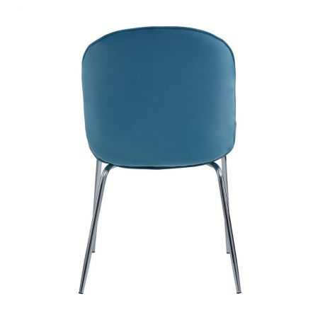 Tolethorpe Blue Velvet Chrome Dining Chair Designer Furniture  £150.00 Store UK, US, EU, AE,BE,CA,DK,FR,DE,IE,IT,MT,NL,NO,ES,SE