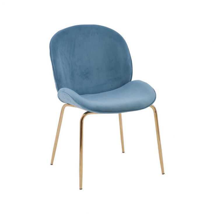 Tolethorpe Blue Velvet Gold Dining Chair Designer Furniture  £190.00 Store UK, US, EU, AE,BE,CA,DK,FR,DE,IE,IT,MT,NL,NO,ES,SE