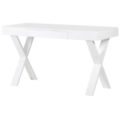 Slimline White Office Desk