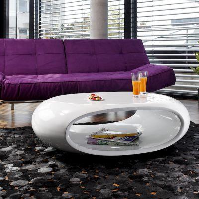 Space Retro White Coffee Table