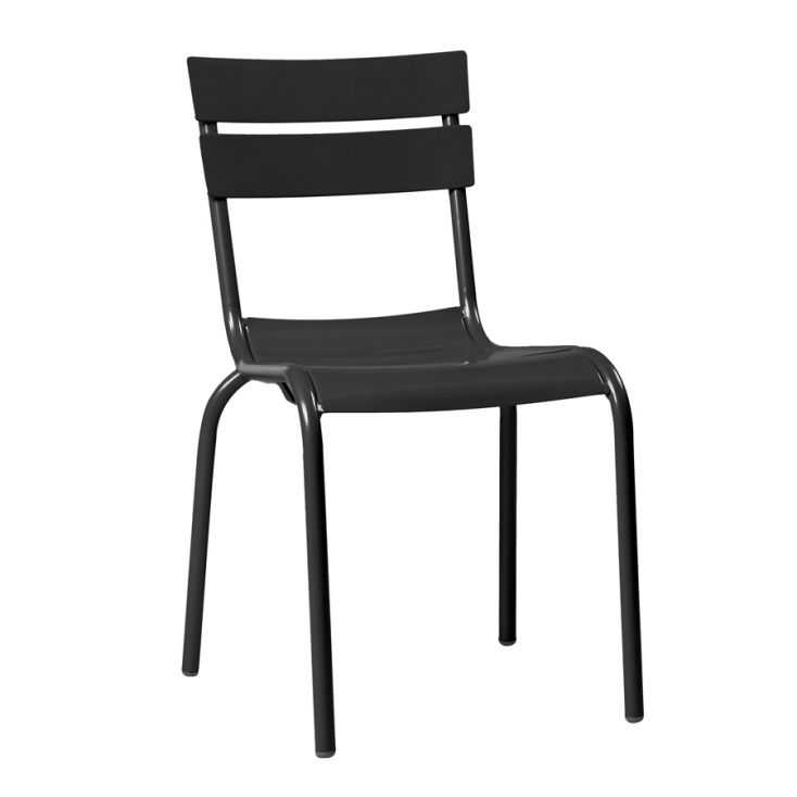 Black Bistro Stacking Chair Outdoor Furniture Smithers of Stamford £ 136.00 Store UK, US, EU, AE,BE,CA,DK,FR,DE,IE,IT,MT,NL,N...