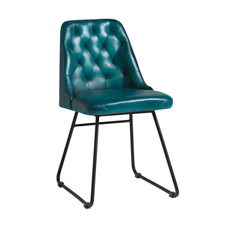 Blue Leather Dining Chair Designer Furniture Smithers of Stamford £ 242.00 Store UK, US, EU, AE,BE,CA,DK,FR,DE,IE,IT,MT,NL,NO...