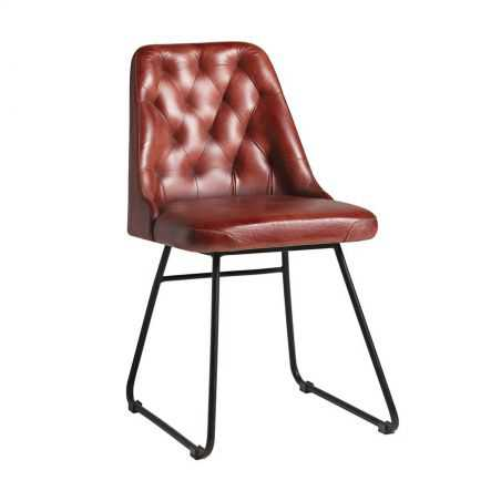 Red Leather Dining Chair Restaurant Furniture Smithers of Stamford £ 242.00 Store UK, US, EU, AE,BE,CA,DK,FR,DE,IE,IT,MT,NL,N...