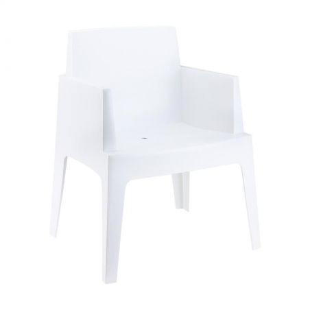 Outdoor White Box Chair Garden Furniture Smithers of Stamford £144.00 Store UK, US, EU, AE,BE,CA,DK,FR,DE,IE,IT,MT,NL,NO,ES,SE