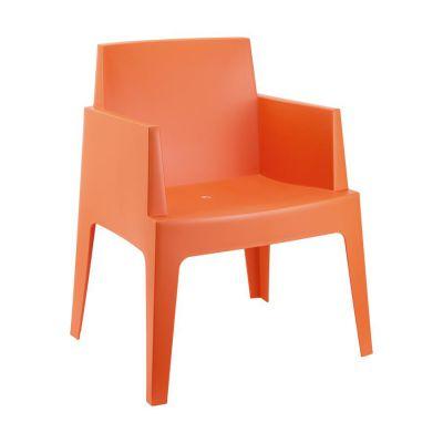 Orange Outdoor Box Chair