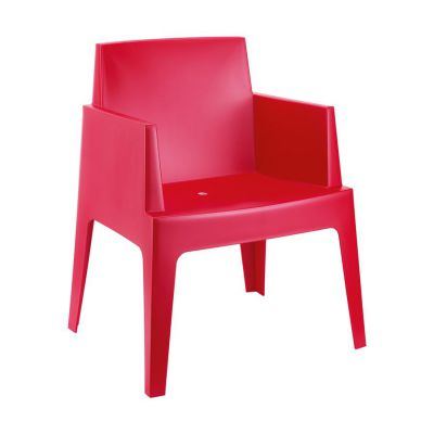 Outdoor Red Box Chair