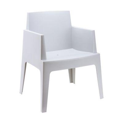 Outdoor Grey Box Chair
