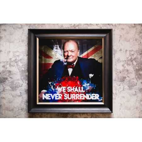 Winston Churchill Picture Wall Art Vintage Wall Art  £ 130.00 Store UK, US, EU, AE,BE,CA,DK,FR,DE,IE,IT,MT,NL,NO,ES,SE