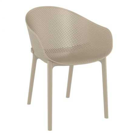 Salsa Taupe Outdoor Chair Garden Furniture Smithers of Stamford £129.00 Store UK, US, EU, AE,BE,CA,DK,FR,DE,IE,IT,MT,NL,NO,ES,SE